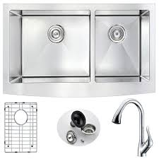 kitchen sink with faucet set acrylic kitchen sinks kitchen the home depot