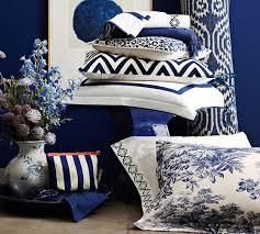 matine toile duvet cover u0026 sham twilight blue pottery barn