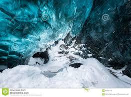 Blue Crystal Clear Ice Inside The Ice Cave Vatnajokull Glacier