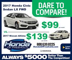 nissan motor acceptance corporation dare to compare civic vs altima honda of freehold