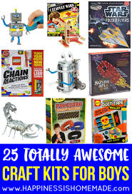 25 awesome craft kits for boys happiness is homemade