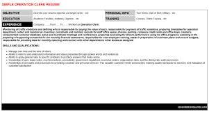 operation clerk cover letter u0026 resume