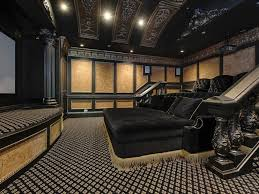 movie home theater home theater with movie themed carpet types of home theater