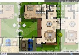 villa plan sterling villa grande 3 4 bedroom villas bangalore