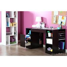 Desk Storage Drawers South Shore Crea Chocolate Desk 7559727 The Home Depot