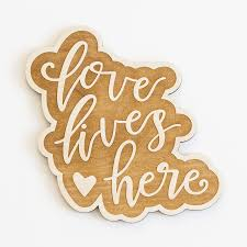 shop engraved wood love lives here wood sign