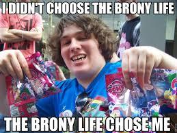 Know Your Meme Brony - brony life i didn t choose the thug life the thug life chose me