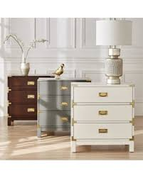great deals on kedric 3 drawer gold accent end table nightstand by