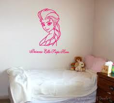 Frozen Elsa Bedroom Personalized Princess Frozen Elsa Wall Art For Girls