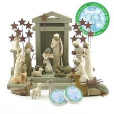 willow tree 21 nativity set by susan lordi includes peace