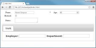 ui layout 1 2 part 1 javascript version the first metawidget application