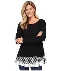 Plaid Cardigan Womens Karen Kane Plus Plus Size Lace Inset Womens Sweater Chillys