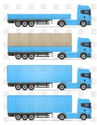semi trailer truck truck semi trailer container flatcar and awning vector image
