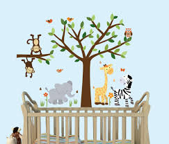 Fabric Wall Decals For Nursery Safari Pride Tree Wall Decals Jungle Stickers With