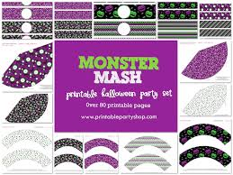 monster mash halloween party clipart illustration of a crowd of stick people at a halloween