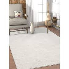 White Area Rug Well Woven Solid White Area Rug 7 10 X 9 10 Free Shipping