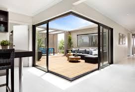 glass sliding doors exterior striking corner sliding doors to an alfresco area a u0026l corner door