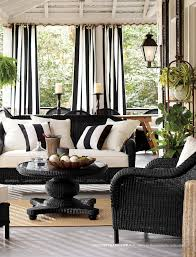black and white for outdoors www potterybarn com the back porch