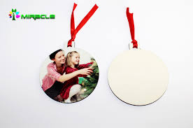 sublimation printing mdf wooden hanging ornaments buy