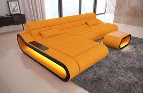 Orange Floor L Design Fabric Sofa Concept L