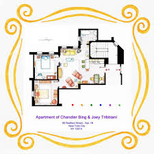 The Chandler Chicago Floor Plans by From Friends To Frasier 13 Famous Tv Shows Rendered In Plan