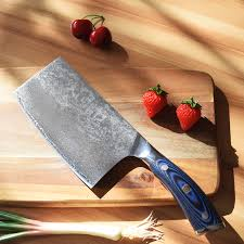 chinese kitchen knives vg10 damascus steel 7 inch chinese chef u0027s knife vegetable cleaver