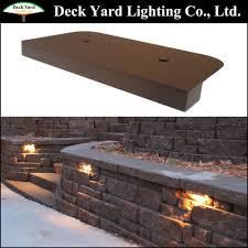 12v led landscape lights under cap retaining wall landscape light kits led stair foot light