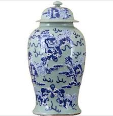 oriental designs celadon classic jar