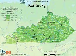 kentucky map map of zones for plants trees in kentucky