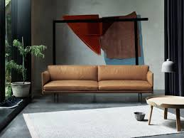 Cheap Leather Sofas In South Africa Buy The Muuto Outline Three Seater Sofa Leather At Nest Co Uk