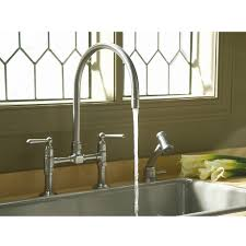 Kitchen Faucets Kohler Kohler K 7337 4 Bs Hirise Brushed Stainless Steel Two Handle