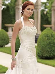 turmec champagne halter wedding dress