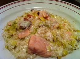 cuisiner le poireau risotto à la truite saumonnée et au poireau envie de cuisiner