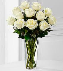 Vase With Roses The White Rose Bouquet By Ftd Vase Included