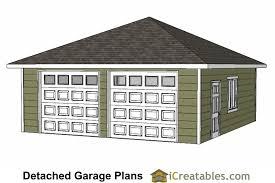 diy 2 car garage plans 24x26 u0026 24x24 garage plans