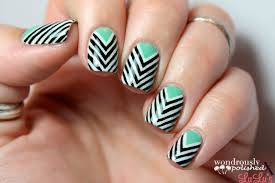 manicure monday chevron nail tutorial lulus com fashion blog