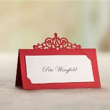 Cheap Wedding Invitations Packs 2015 Red Laser Cut Place Card Holder Wedding Name Cards Party