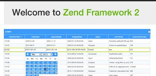 zf2 twig layout phpgrid and zend framework integration phpgrid php datagrid