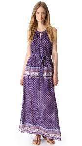 bcbgmaxazria mia paisley maxi dress in purple lyst