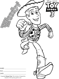 story coloring pages cowboy woody runs