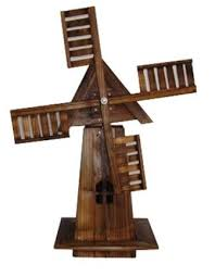 wooden windmill garden ornament moving sails top co uk