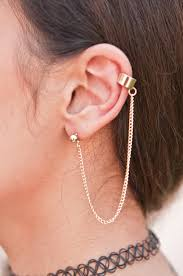 gold ear cuff simple gold ear cuff chain pin picks chains gold