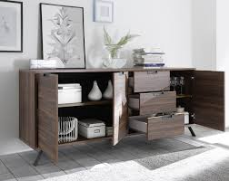 Sideboard Walnut Palma Sideboard Three Doors Three Drawers Walnut Sideboards