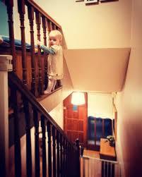 Handrail Synonym Warning This Dad U0027s Demented Baby Photos May Freak Worried Moms