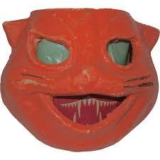 halloween crate halloween decoration egg crate pulp paper mache cat face jack o