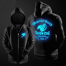 fairy tail glowing men hoodie free shipping worldwide