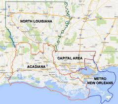 Louisiana Parish Map With Cities by Sections Apa Louisiana Chapter