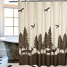 Adirondack Shower Curtain by Amazon Com Bacova Guild Mountain Lodge Fabric Shower Curtain