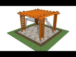 How To Build A Wooden Pergola by How To Build A Pergola On A Patio Youtube