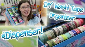 diy washi tape dispenser and organizer two methods youtube